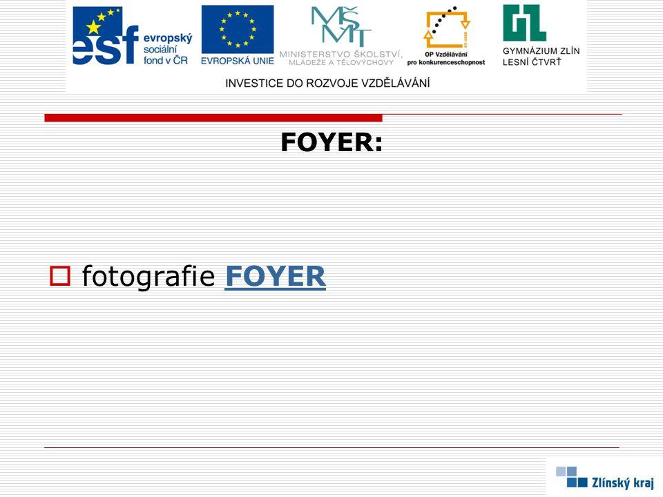 FOYER:  fotografie FOYERFOYER