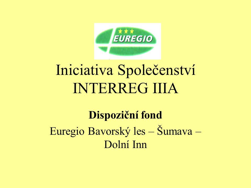 Iniciativa Společenství INTERREG IIIA Dispoziční fond Euregio Bavorský les – Šumava – Dolní Inn