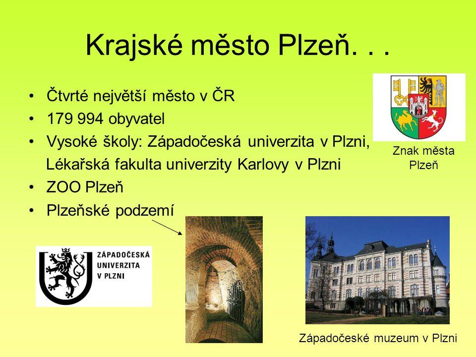 Krajské město Plzeň... Čtvrté největší město v ČR 179 994 obyvatel Vysoké školy: Západočeská univerzita v Plzni, Lékařská fakulta univerzity Karlovy v