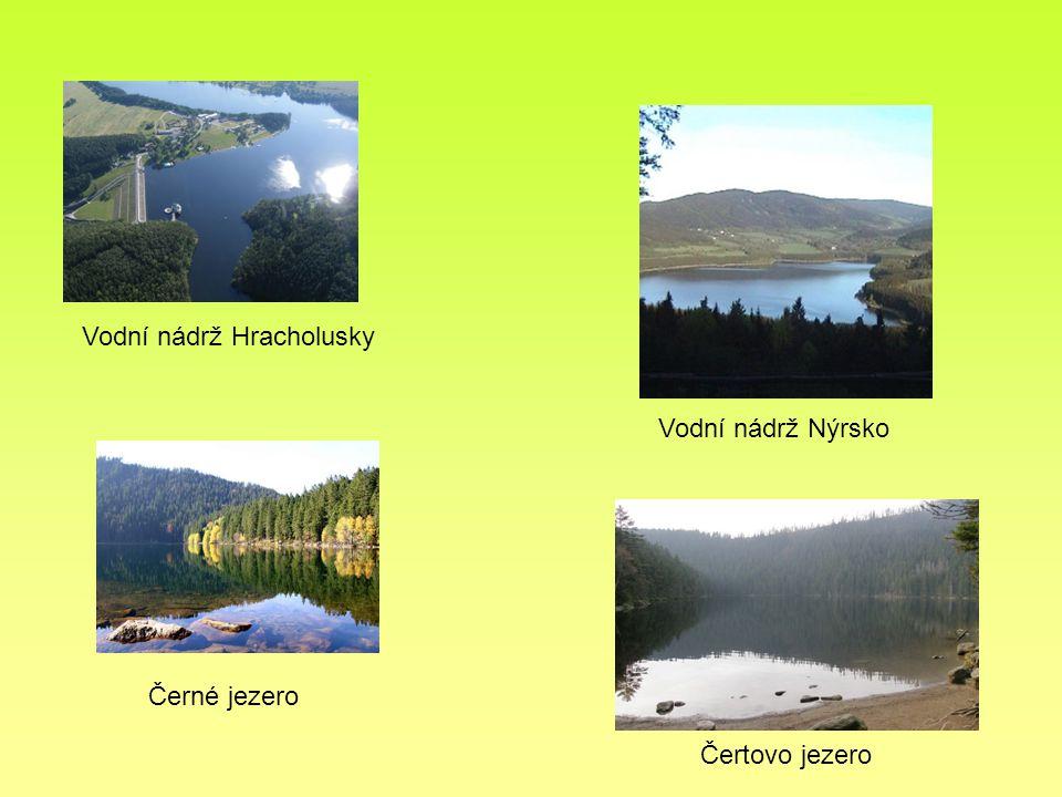 Černé jezero Čertovo jezero Vodní nádrž Hracholusky Vodní nádrž Nýrsko