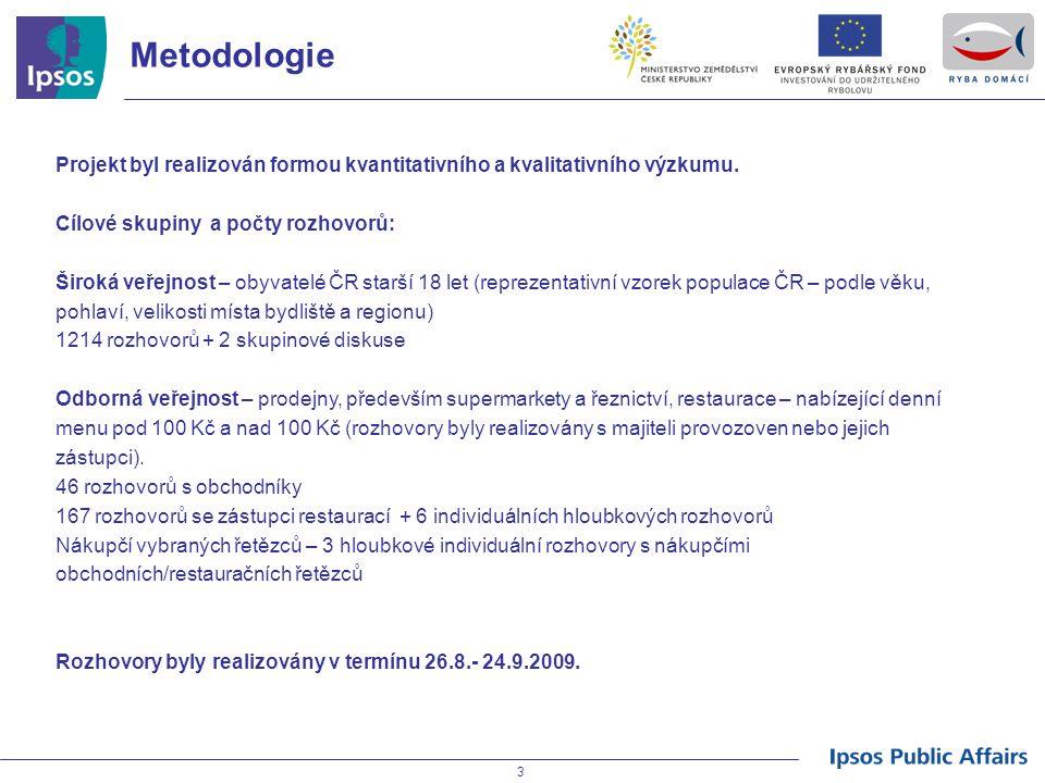3 Metodologie Projekt byl realizován formou kvantitativního a kvalitativního výzkumu. Cílové skupiny a počty rozhovorů: Široká veřejnost – obyvatelé Č