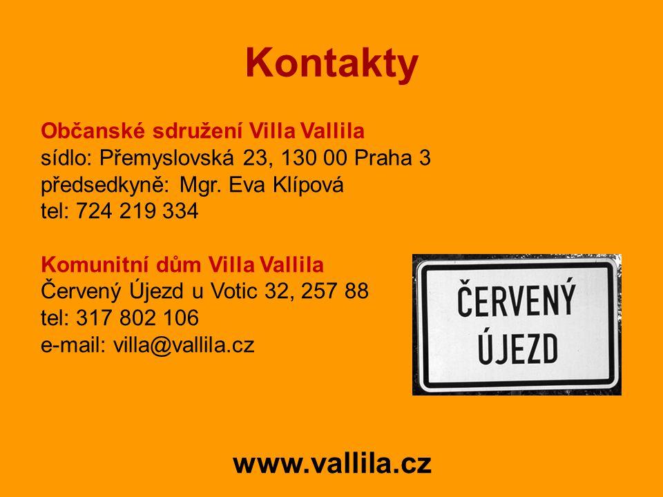 Kontakty Občanské sdružení Villa Vallila sídlo: Přemyslovská 23, 130 00 Praha 3 předsedkyně: Mgr.