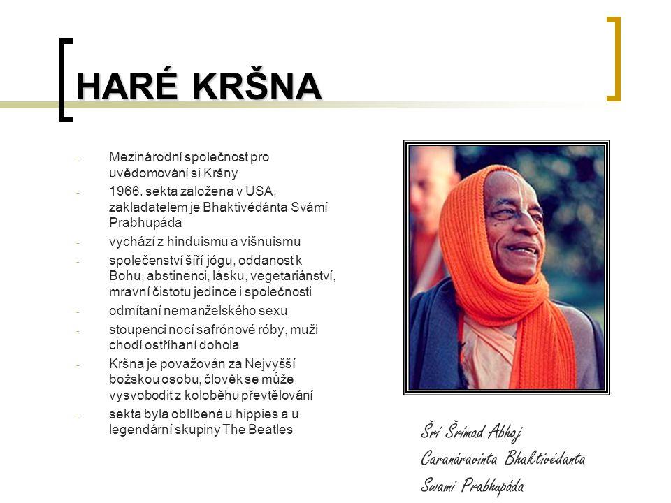 HARÉ KRŠNA - Mezinárodní společnost pro uvědomování si Kršny - 1966.