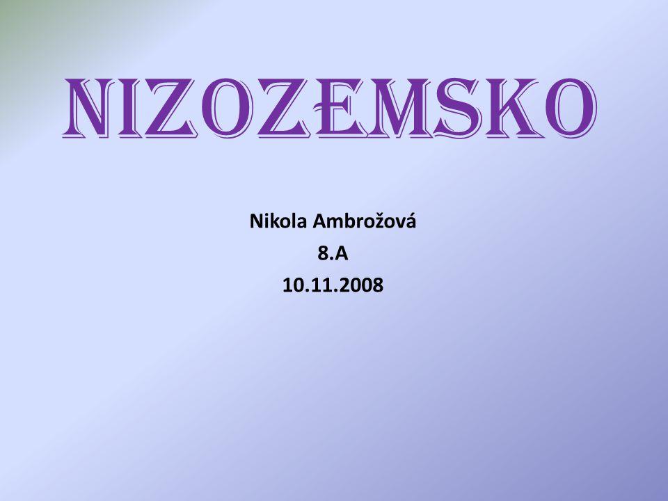 Nizozemsko Nikola Ambrožová 8.A 10.11.2008