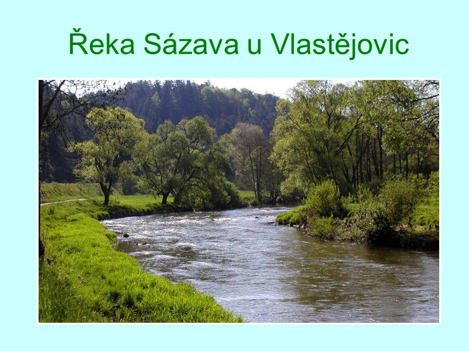 Pokročilý podzim na řece Sázavě
