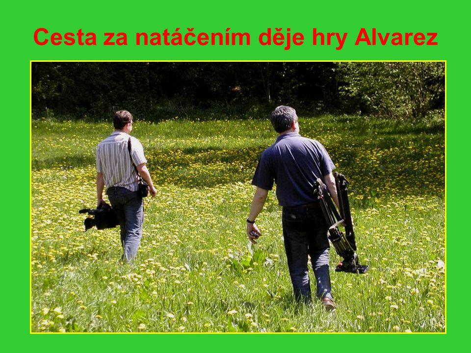 Natáčení u Zlatonosného potoka Upevnit kameru, pak už klapka a natáčí se další záběr