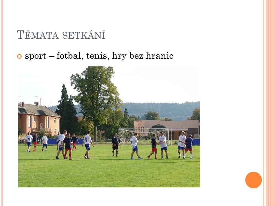 T ÉMATA SETKÁNÍ sport – fotbal, tenis, hry bez hranic