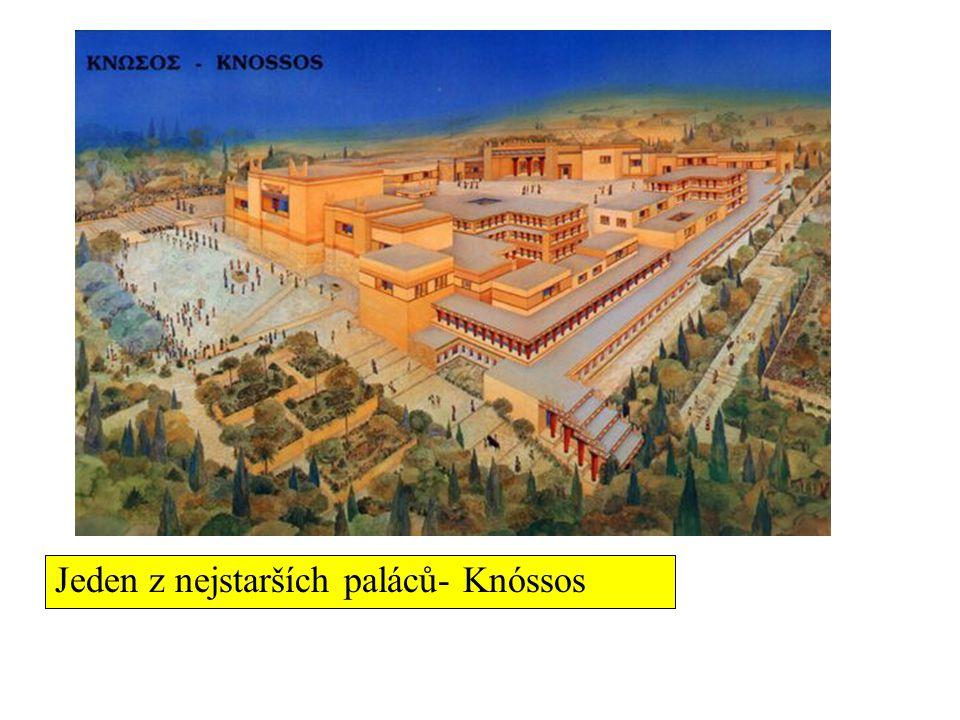 Heinrich Schliemann (1822- 1890) Génius na cizí jazyky, bohatý obchodník, archeolog amatér Uvěřil líčení Homérových eposů a na jejich základě objevil Tróju (1871-3)- zlatý poklad krále Priama ve skutečnosti o 1000 let starší V Mykénách odkryl zlatý poklad v šachtovém hrobě- slavná zlatá maska HS řekl: Pohlédl jsem do tváře Agamemnonovi (ve skutečnosti poklad o 300 let starší) Řecká manželka ozdobena odhalenými šperky