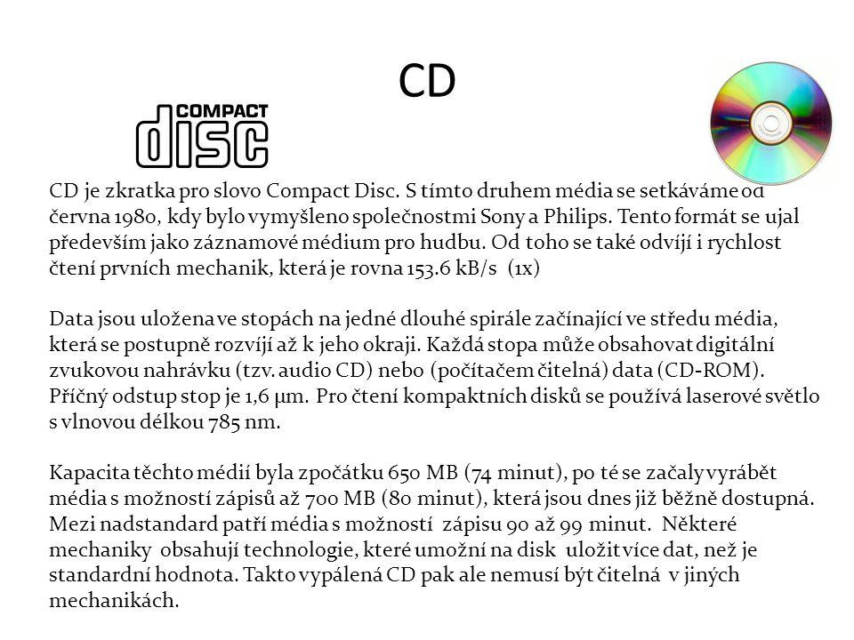 CD CD je zkratka pro slovo Compact Disc.