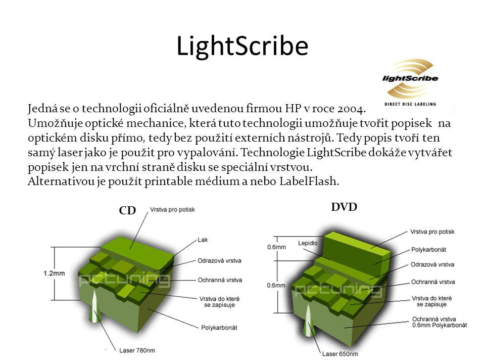 LightScribe Jedná se o technologii oficiálně uvedenou firmou HP v roce 2004.