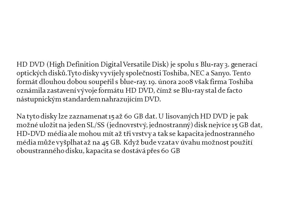 HD DVD (High Definition Digital Versatile Disk) je spolu s Blu-ray 3.