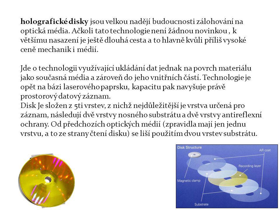 holografické disky jsou velkou nadějí budoucnosti zálohování na optická média.