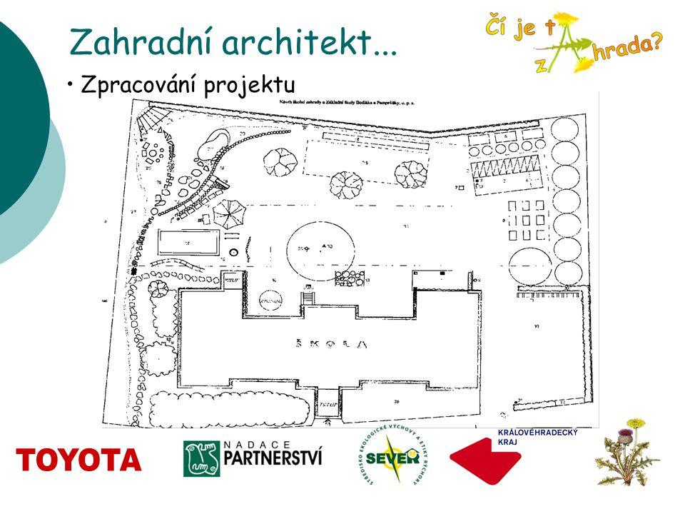 Zahradní architekt... Zpracování projektu