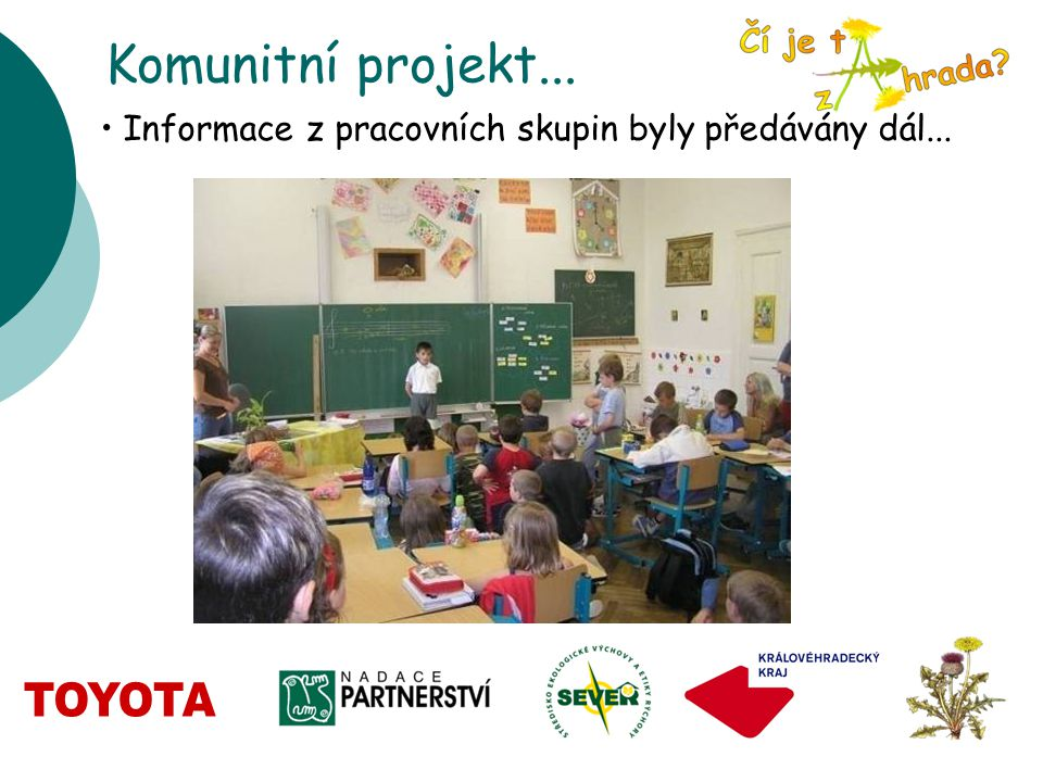 Komunitní projekt... Informace z pracovních skupin byly předávány dál...