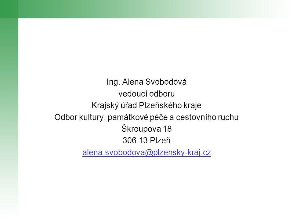 Děkuji za pozornost Odbor kultury, památkové péče a cestovního ruchu KÚPK Plzeň, listopad 2011