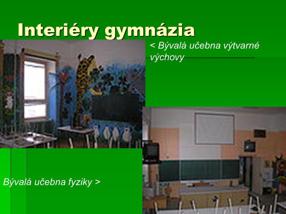 Interiéry gymnázia < Bývalá učebna výtvarné výchovy Bývalá učebna fyziky >