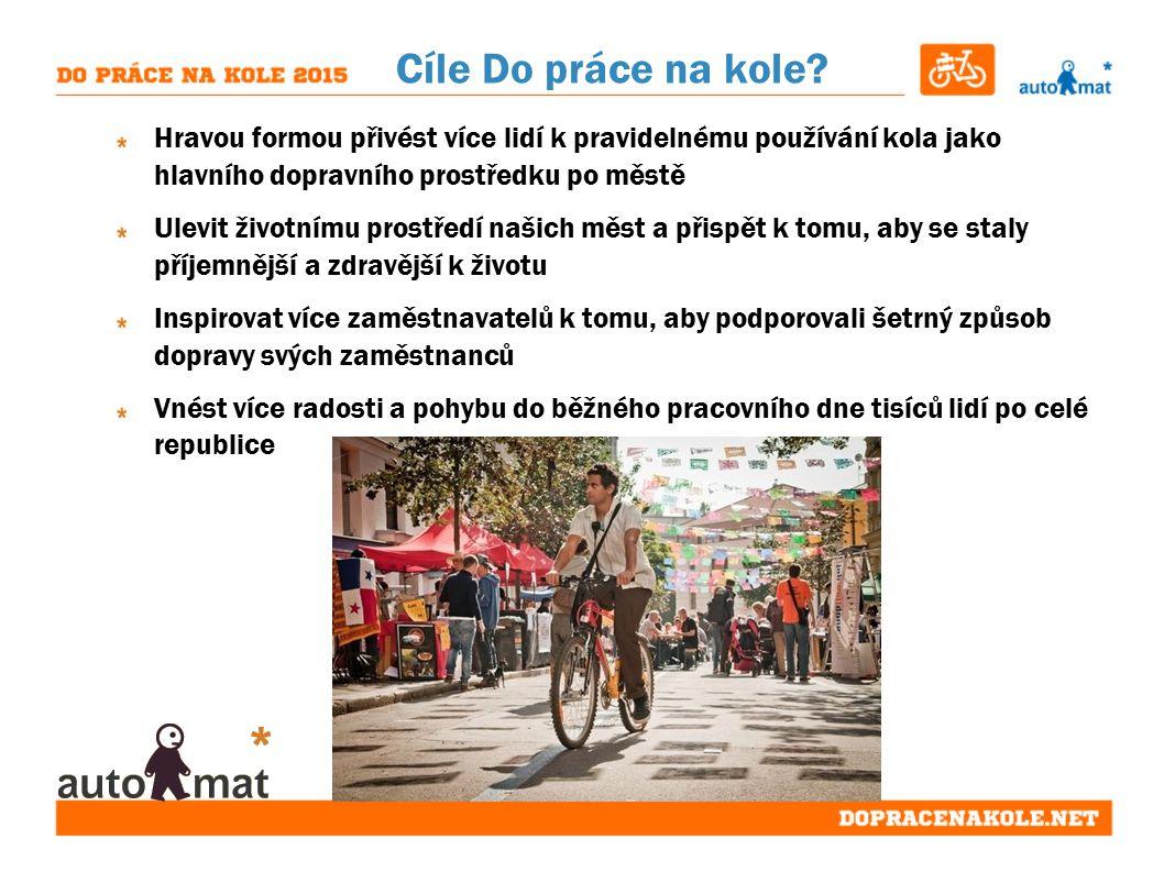 Cíle Do práce na kole.