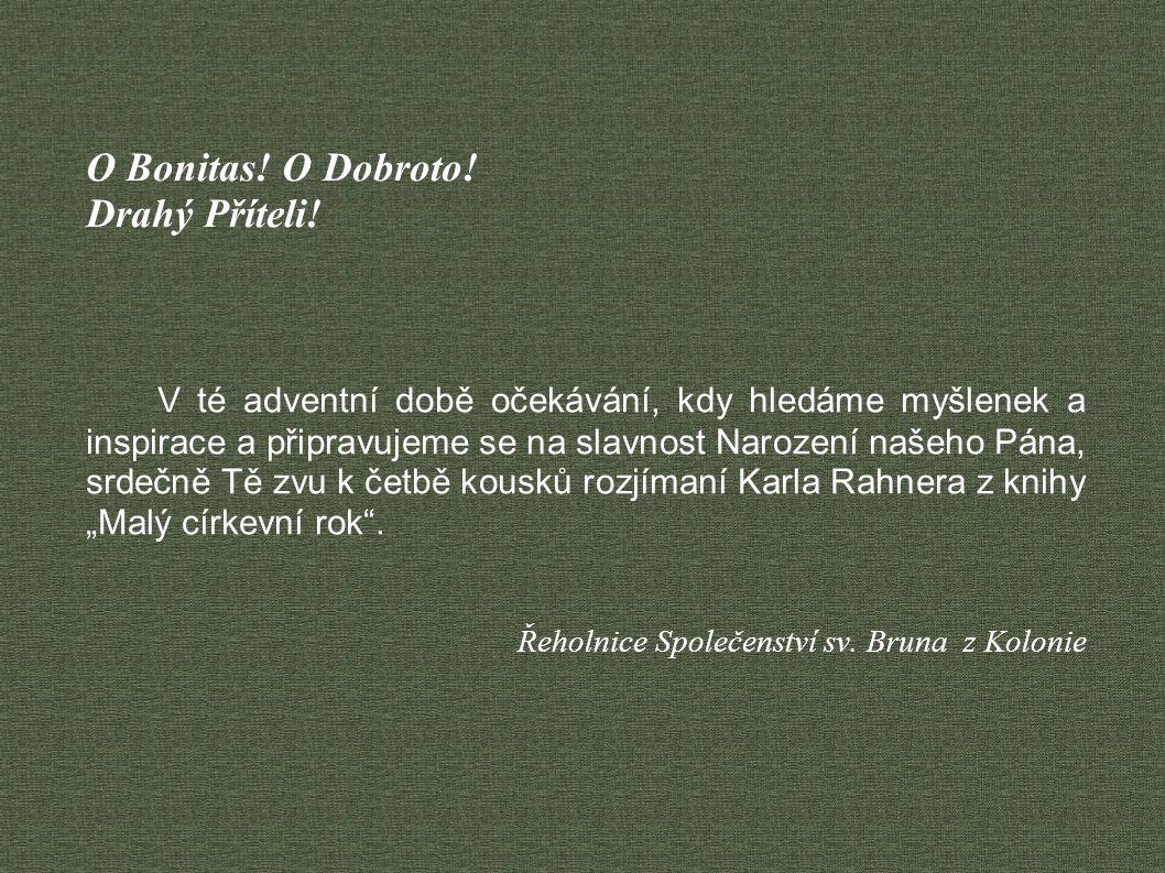 Advent – příchod – znamená vlastně, v překladu úplně doslovným, budoucnost...