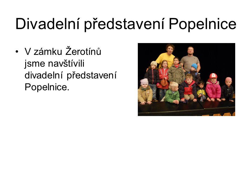 Divadelní představení Popelnice V zámku Žerotínů jsme navštívili divadelní představení Popelnice.