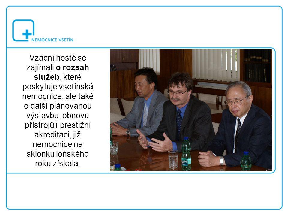 Na dotazy odpovídali představitelé akciové společnosti Vsetínská nemocnice.