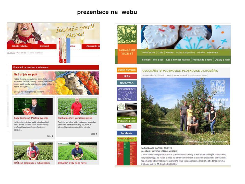 prezentace na webu