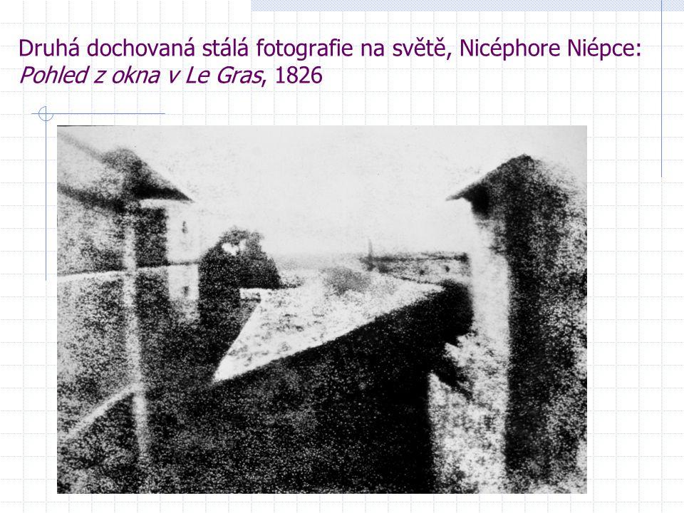 Druhá dochovaná stálá fotografie na světě, Nicéphore Niépce: Pohled z okna v Le Gras, 1826