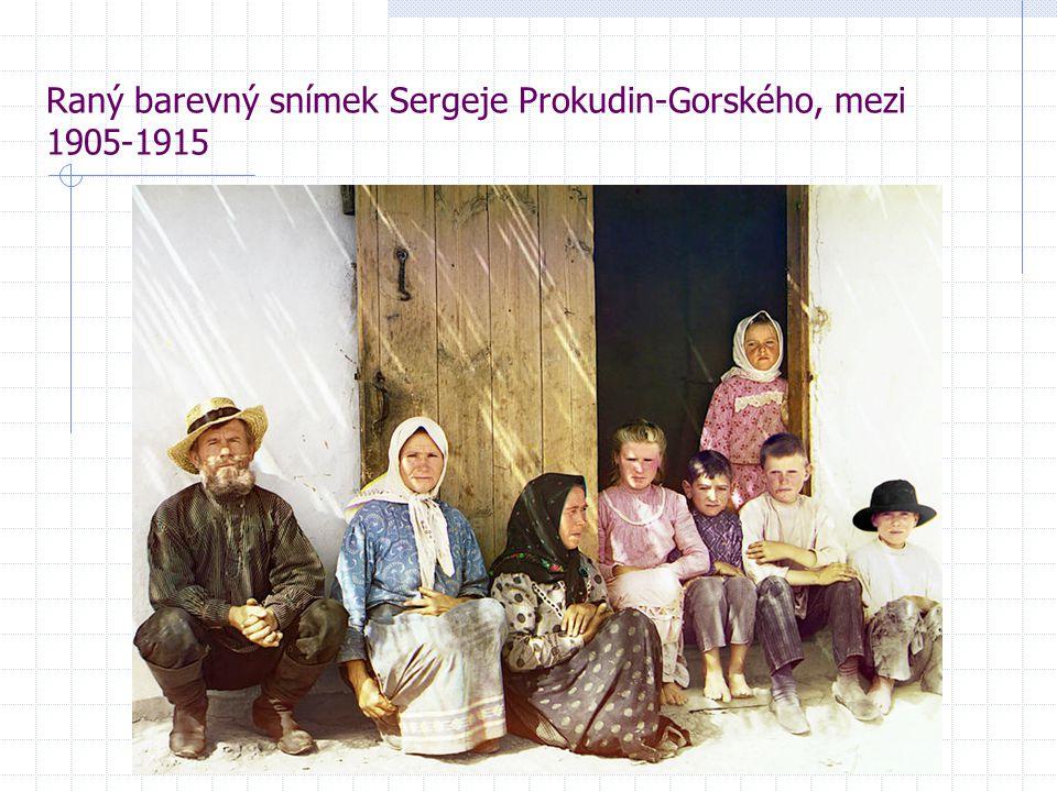 Raný barevný snímek Sergeje Prokudin-Gorského, mezi 1905-1915