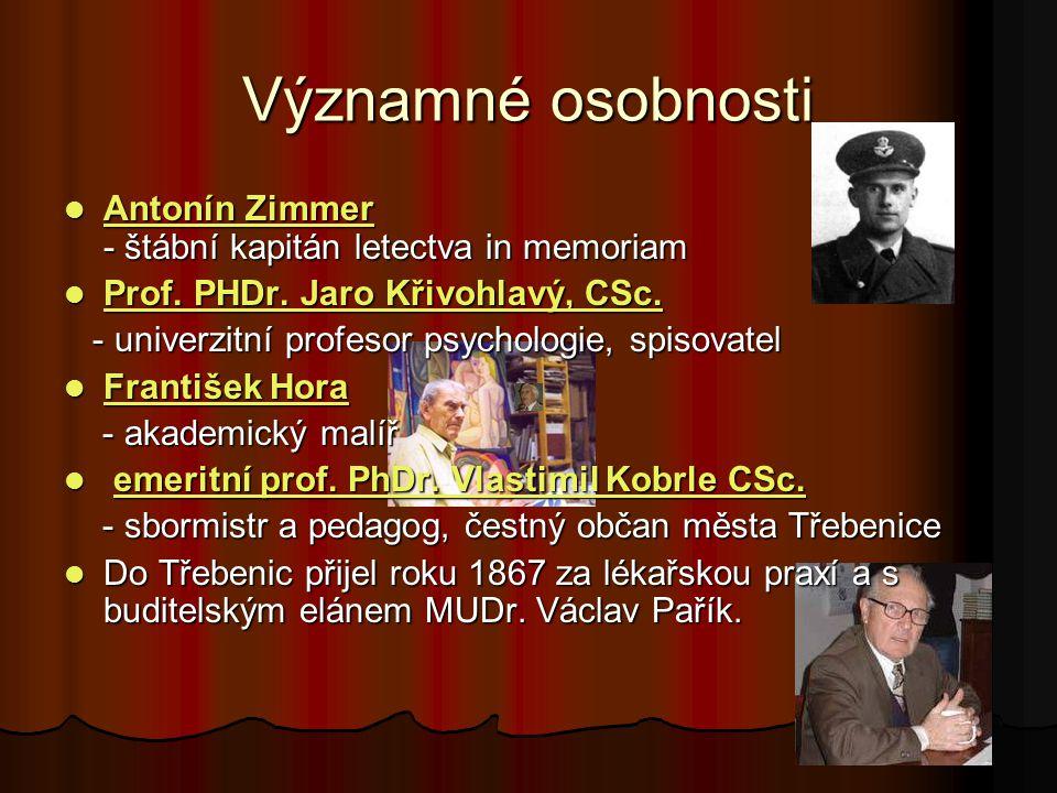 Významné osobnosti Antonín Zimmer - štábní kapitán letectva in memoriam Antonín Zimmer - štábní kapitán letectva in memoriam Antonín Zimmer Antonín Zimmer Prof.