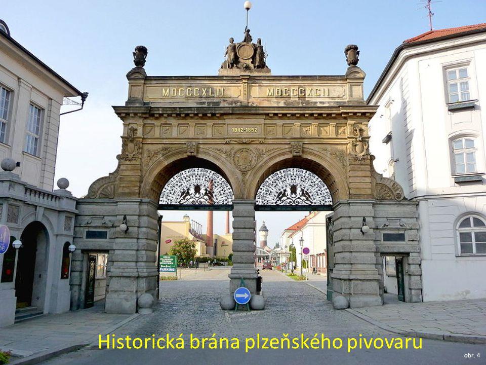 Historická brána plzeňského pivovaru obr. 4