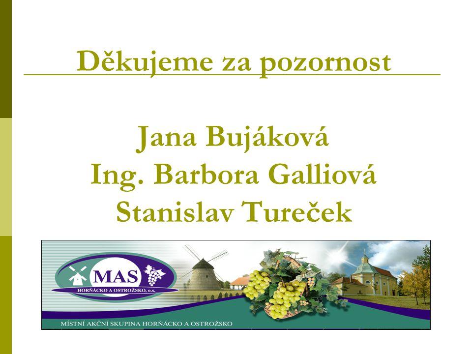 Děkujeme za pozornost Jana Bujáková Ing. Barbora Galliová Stanislav Tureček