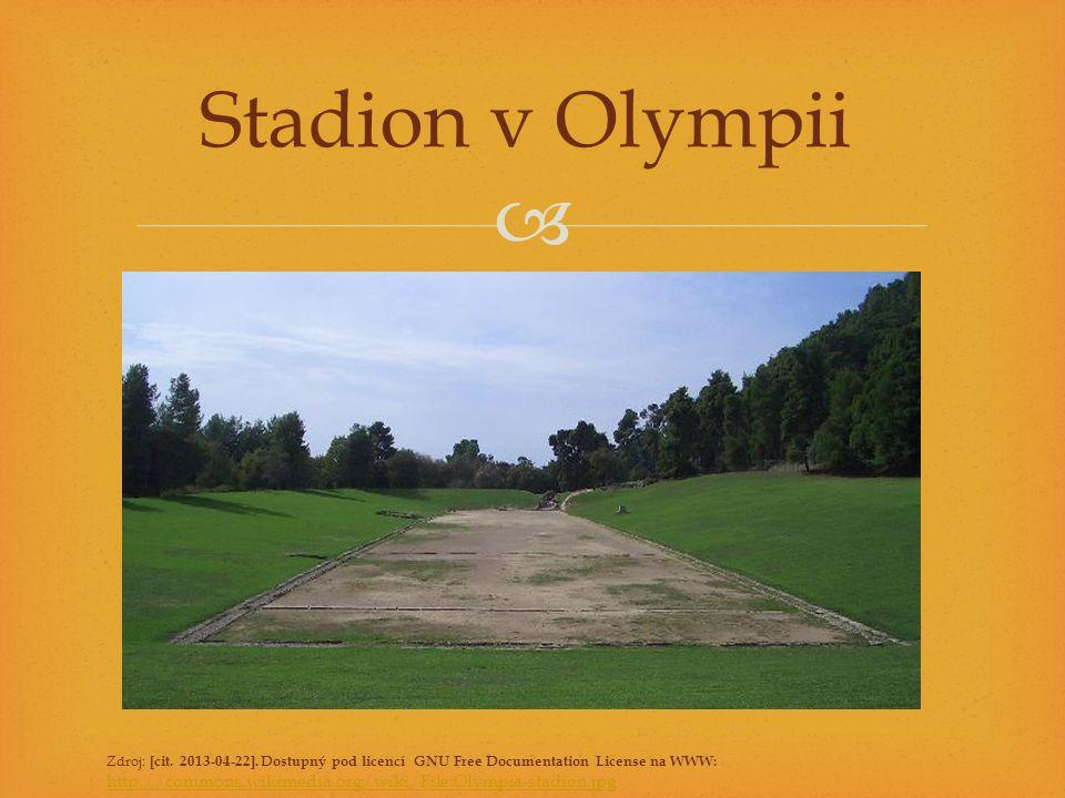  Stadion v Olympii Zdroj: [cit. 2013-04-22]. Dostupný pod licencí GNU Free Documentation License na WWW: http://commons.wikimedia.org/wiki/File:Olymp