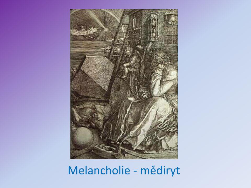 Melancholie - mědiryt