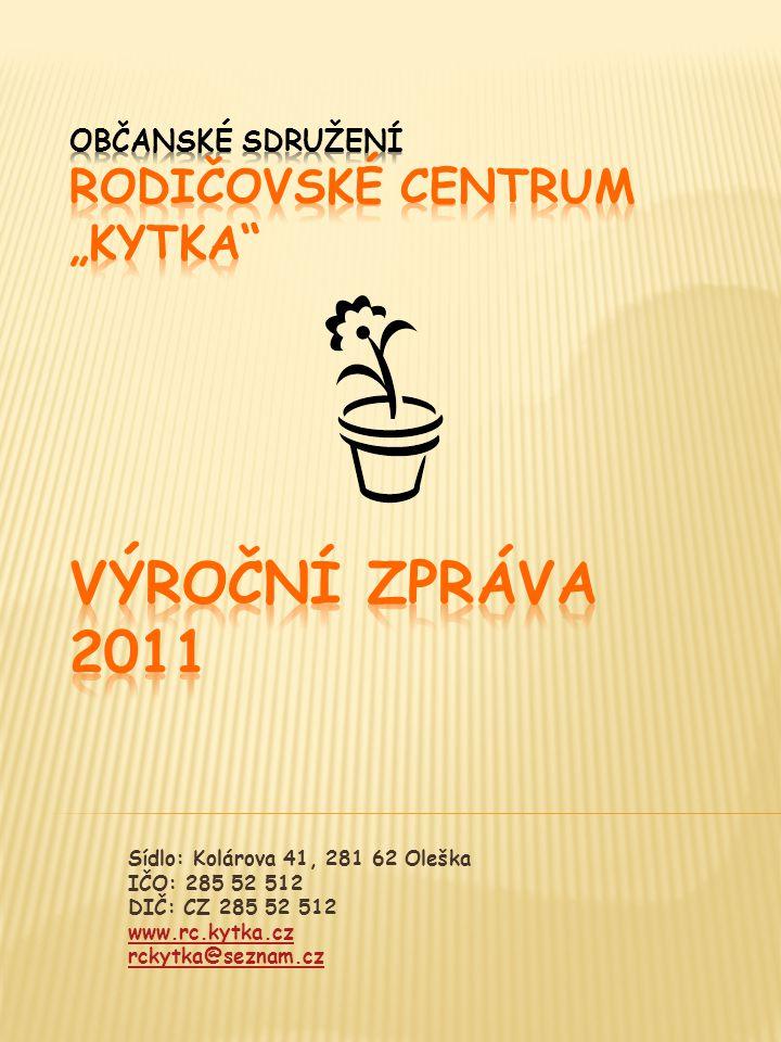 Sídlo: Kolárova 41, 281 62 Oleška IČO: 285 52 512 DIČ: CZ 285 52 512 www.rc.kytka.cz rckytka@seznam.cz