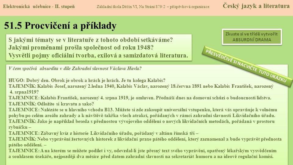51.5 Procvičení a příklady Elektronická učebnice - II.