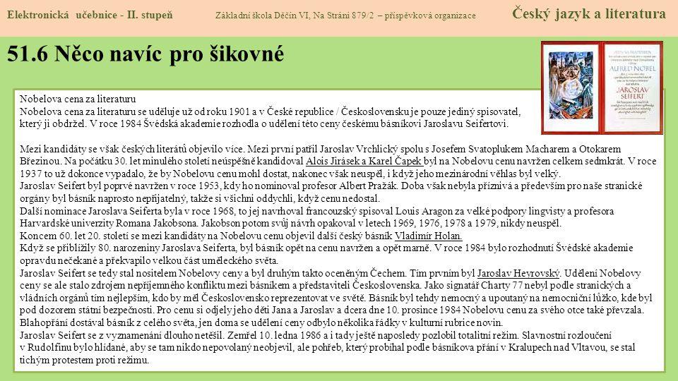 51.6 Něco navíc pro šikovné Elektronická učebnice - II.