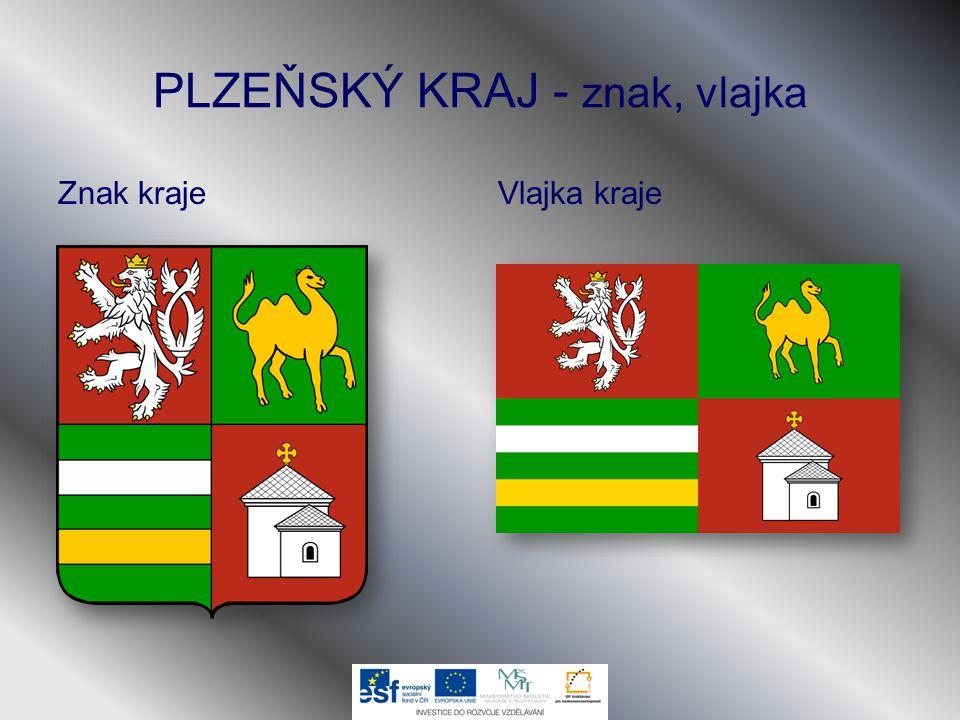 PLZEŇSKÝ KRAJ - znak, vlajka Znak krajeVlajka kraje