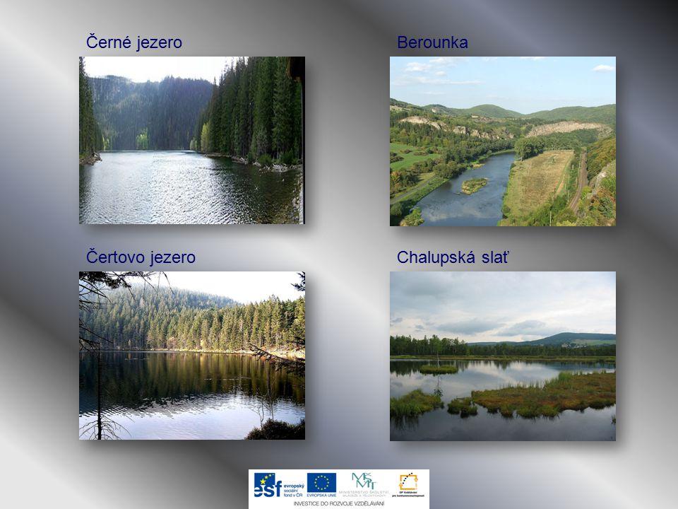 Černé jezero Čertovo jezero Berounka Chalupská slať