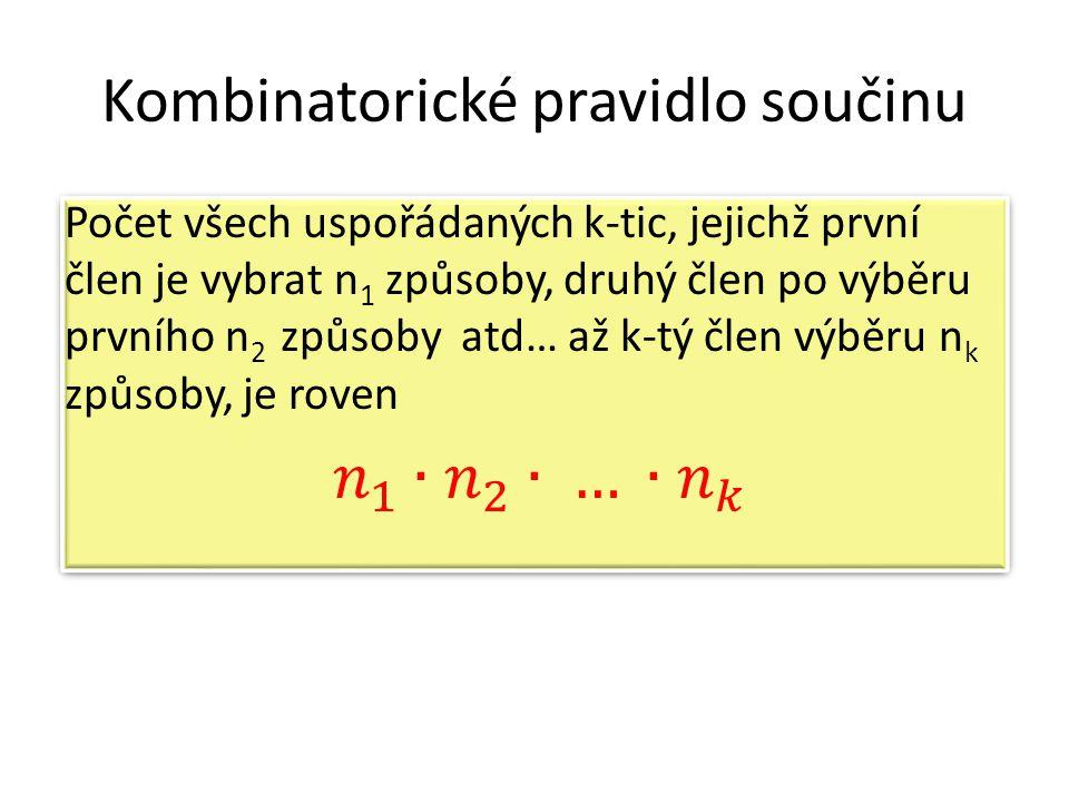 Kombinatorické pravidlo součinu