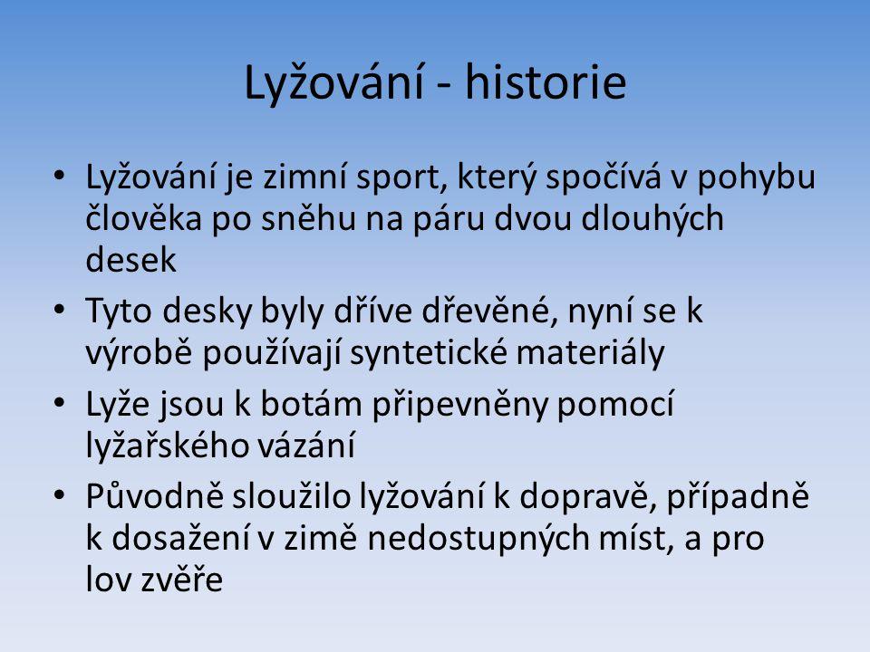 Lyžování – historie II.