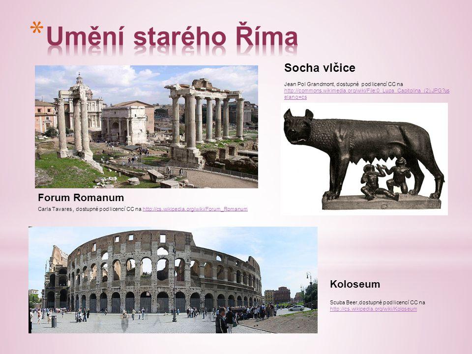 Forum Romanum Carla Tavares, dostupné pod licencí CC na http://cs.wikipedia.org/wiki/Forum_Romanumhttp://cs.wikipedia.org/wiki/Forum_Romanum Koloseum