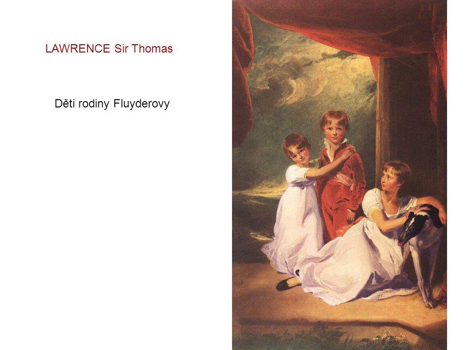 LAWRENCE Sir Thomas Paní Henry Baring s dětmi - 1817