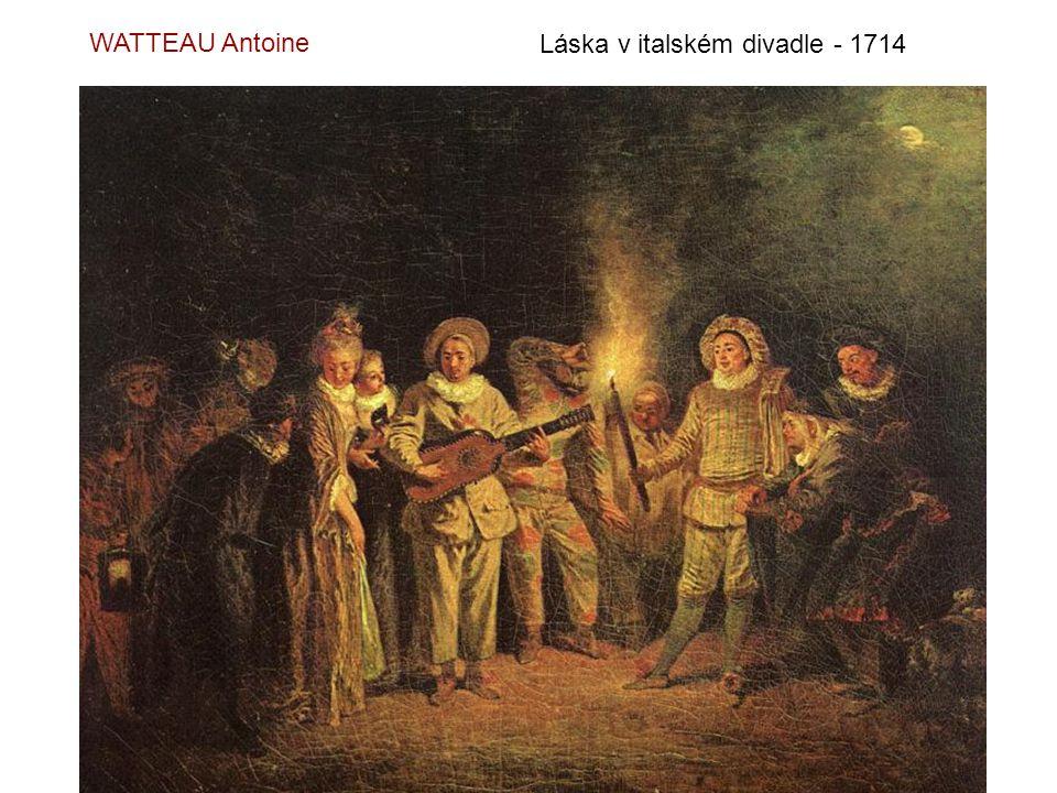 Láska ve francouzském divadle - 1714