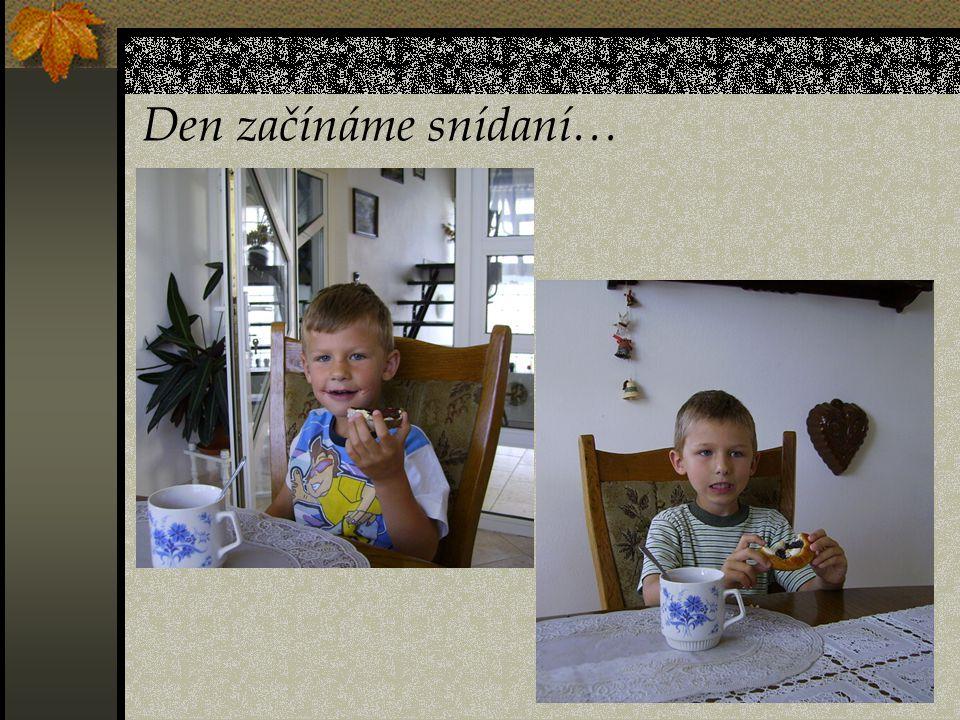 Den začínáme snídaní…