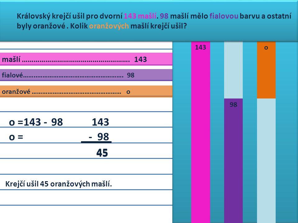 mašlí ………………………………………………. 143 fialové……..………………………………………….