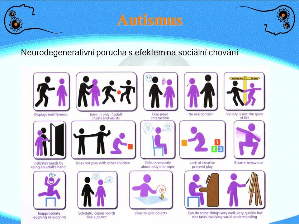 Autismus Neurodegenerativní porucha s efektem na sociální chování