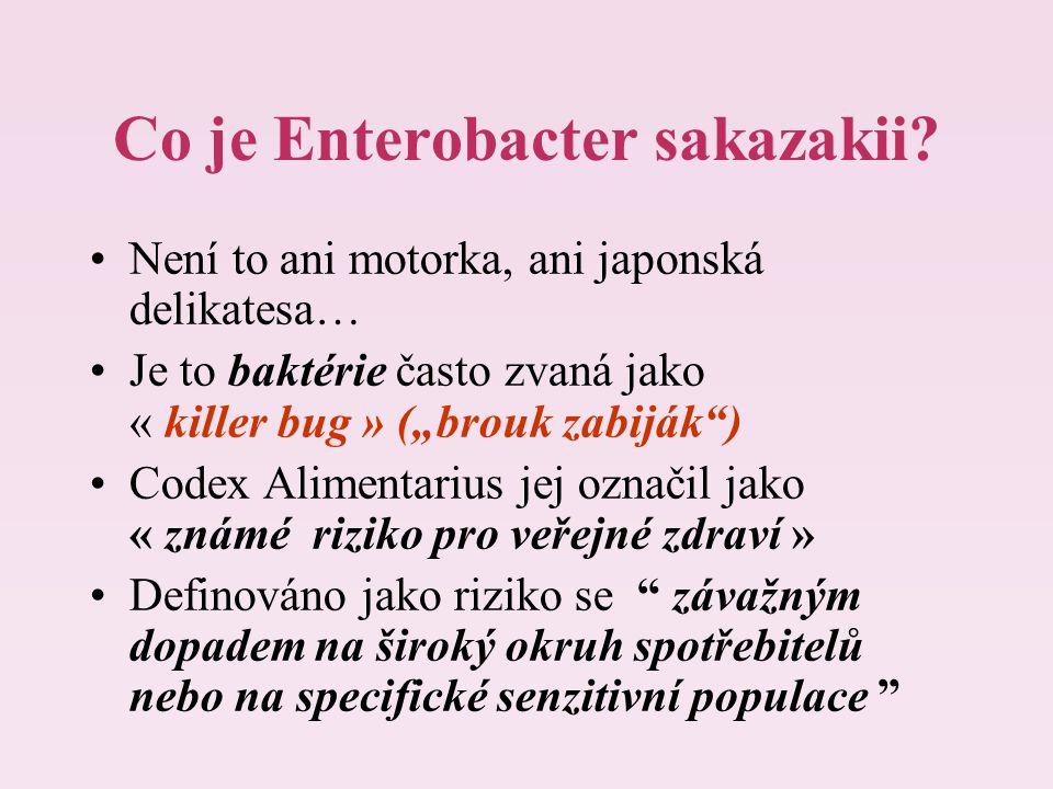 """Co je Enterobacter sakazakii? Není to ani motorka, ani japonská delikatesa… Je to baktérie často zvaná jako « killer bug » (""""brouk zabiják"""") Codex Ali"""