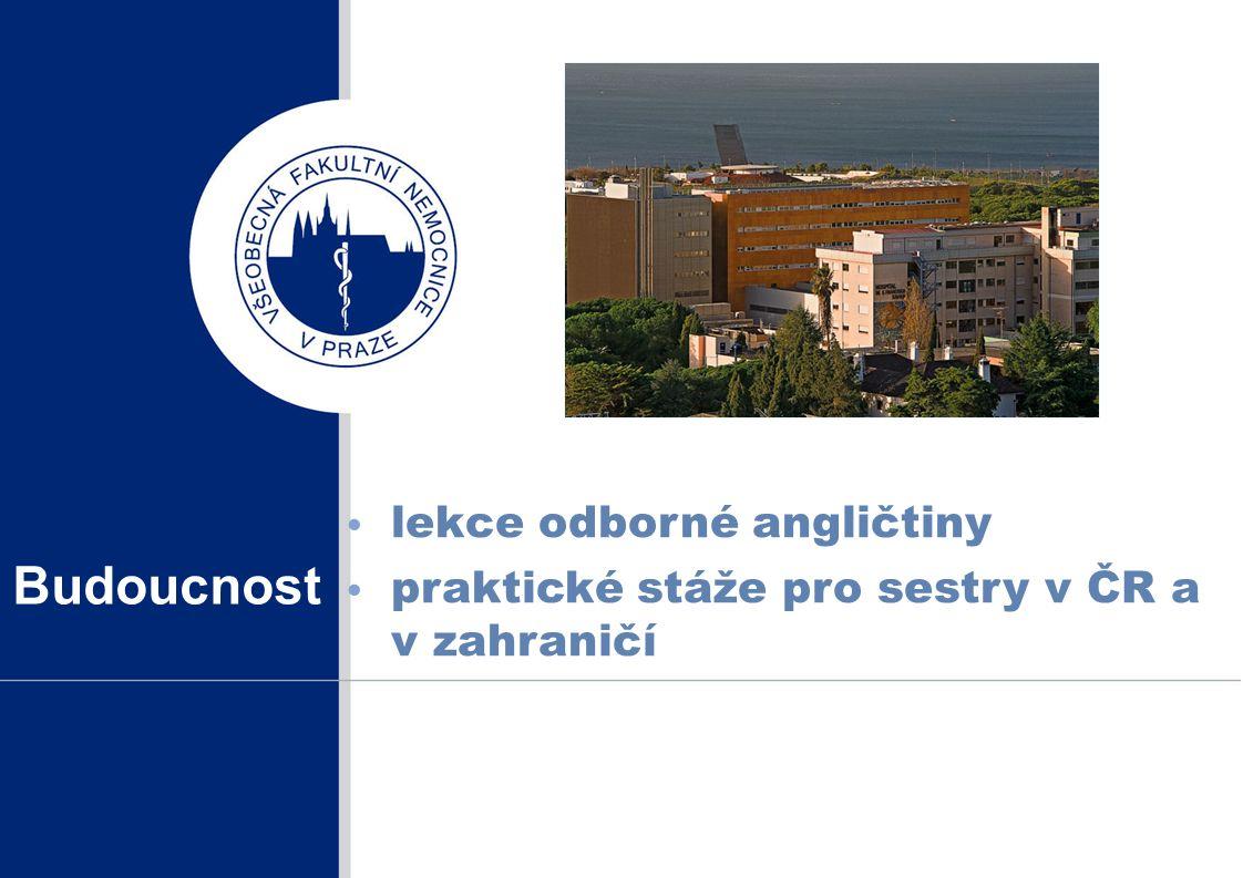 Budoucnost lekce odborné angličtiny praktické stáže pro sestry v ČR a v zahraničí