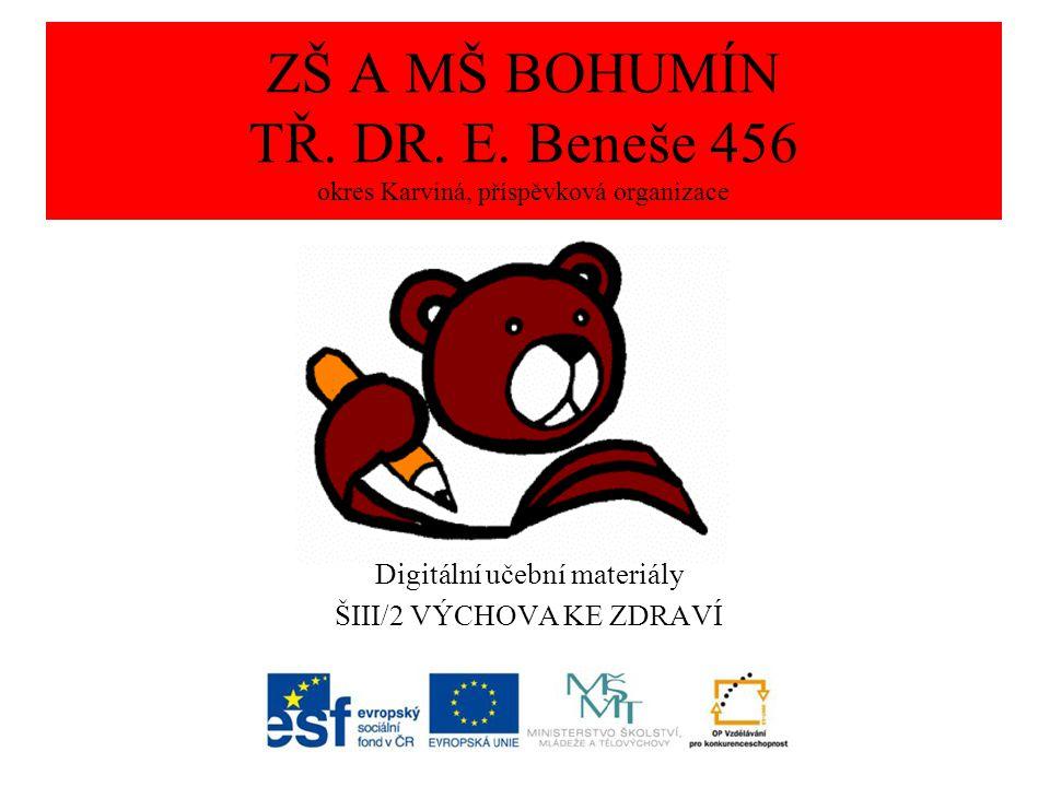 ZDROJE Obrazový materiál pochází z vlastních zdrojů. ZŠ a MŠ tř. Dr. E. Beneše 456 Bohumín