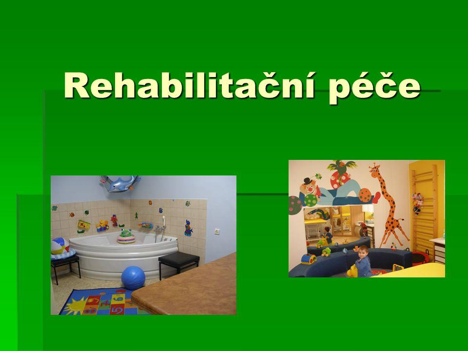 Dětský domov poskytuje léčebnou rehabilitaci dětem od novorozeneckého věku do 5 let.