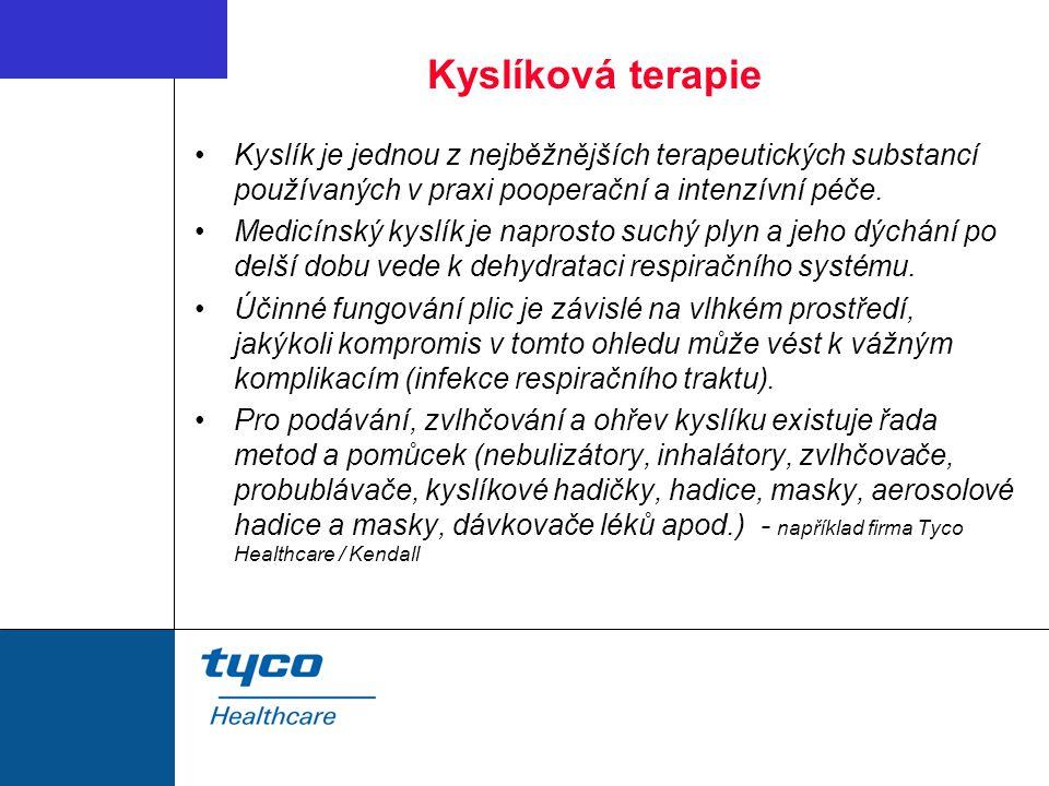 Kyslíková terapie Kyslík je jednou z nejběžnějších terapeutických substancí používaných v praxi pooperační a intenzívní péče.